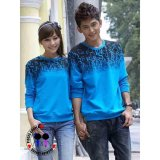 Diskon Jakarta Couple Sweater Couple Abjad Biru Branded