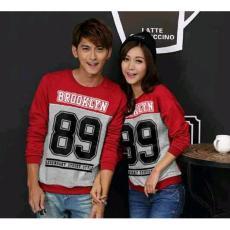 Jakarta Couple - Sweater Couple Broklyn 89 L1 Couple Sayap Baju Pasangan  Sweater Murah f15904fc82