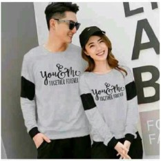 Jakarta Couple - Sweater Couple Together / Sweater Couple Terbaru / Couple Murah / You Me