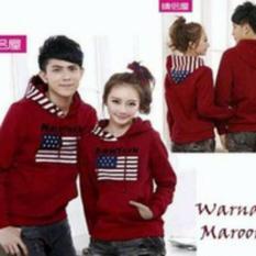 Jakarta Couple - Sweater Couple New York Maroon