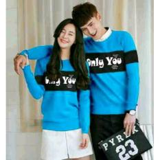Jakarta Couple - Sweater Couple Only You Navy / Sweater KapelIDR79900. Rp 79.900