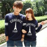 Jakarta Couple Sweater Couple Paris Essence Navy Asli