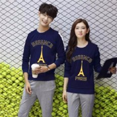 Jakarta Couple - Sweater Couple Paris Essence Navy Gold