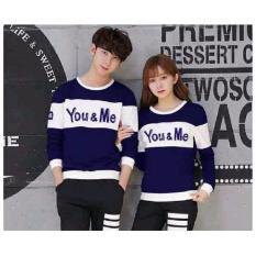 Jakarta Couple - Sweater Couple You Me Kombinasi Navy