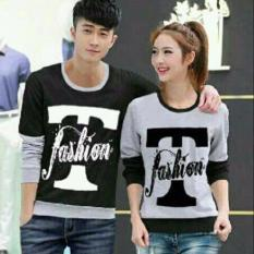 Jual Jakarta Couple Sweater Couple T Fashion Abu Hitam Antik