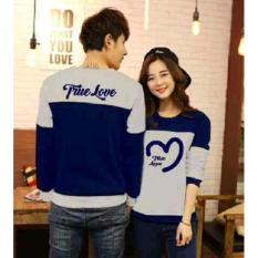 Harga Jakarta Couple Sweater Couple True Love Biru Misty New