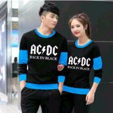 Promo Jakarta Couple Sweater Pasangan Acdc Hitam Turkis Murah