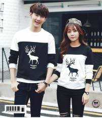 Jakarta Couple -  Sweater Pasangan Rusa / Sweater Couple Rusa Hitam / Switer Kapel /Atasan Couple