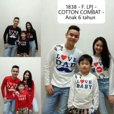 Jakarta Couple - T-shirt Couple Terbaru / Familiy Couple 1 Anak  / Kaos Keluarga / Kaos Family Love Lengan Panjang REAL PIC