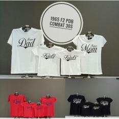 Jakarta Couple - T-shirt Couple Terbaru / Familiy Couple 2 Anak  / Kaos Keluarga / Kaos Mom & Kid REAL PIC