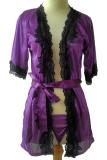 Beli Jakarta Lingerie Jlf169B Purple Kimono S*Xy With Black Flower Cicil