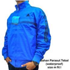 jaket ADDS 001 Parasut Import Bolak Balik Outdoor biru