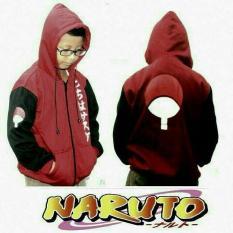 Jaket Anak Anime Naruto Uchiha Sasuke Marun Original