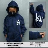 Spesifikasi Jaket Anak Aw Hoodie Zipper Ninja Alan Walker Hitam Sablon Putih Biru Paling Bagus