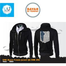 Harga Jaket Anime Attack On Titan Jaket Aot Funnel Jacket Black Jmm Baru