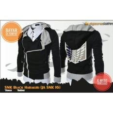 Spek Jaket Anime Attackontitan Harakiri Style Black Hoodie Indonesia