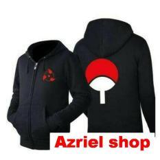 Jual Jaket Anime Hoodie Zipper Naruto Sasuke Kakashi Uchiha Sharingan Best Seller Black Lengkap