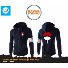 Jual Jaket Anime Hoodie Zipper Naruto Sasuke Uchiha 4 Strip Ja Nrt 49 Best Seller Navy Jawa Barat