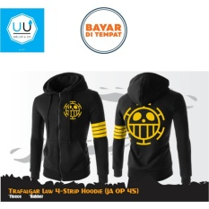 Harga Jaket Anime Hoodie Zipper One Piece Trafalgar 4 Strip Ja Op 45 Best Seller Black Seken