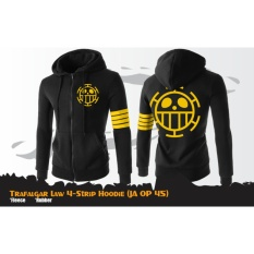 Harga Jaket Anime Hoodie Zipper One Piece Trafalgar 4 Strip Ja Op 45 Best Seller Black Branded