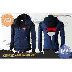 Jaket Anime Uchiha Clan Double Zipper Navy Best Seller - JMM
