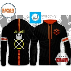 Jaket Anime One Piece Trafalgar Law Mode Corazon Black Murah