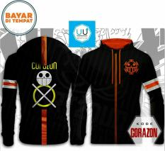 Jaket Anime Trafalgar Law Mode Corazon One Piece - Black