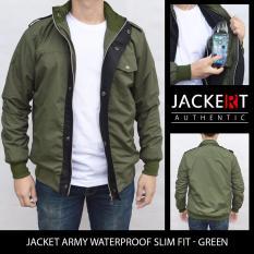 Beli Jaket Army Parasut Slim Fit Waterproof Hijau Yang Bagus
