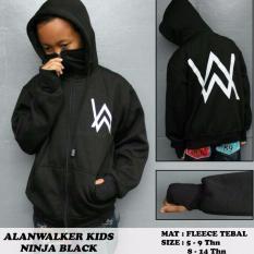 Katalog Jaket Aw Anak Hoodie Ninja Black 001 Aw Terbaru