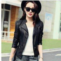 jaket blazer kulit wanita hitam black new 01af223ec2