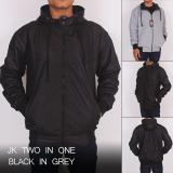 Jual Jaket Bolak Balik Black Grey Best Branded