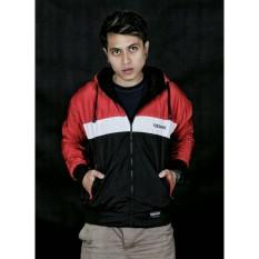 Jual Jaket Bolak Balik Pria Djebred Hitam Merah Di Jawa Barat