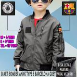 Review Jaket Bomber Anak Taslan Waterproof Type B Barcelona Grey Dg S
