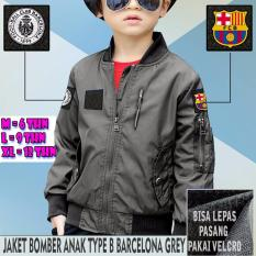 Promo Jaket Bomber Anak Taslan Waterproof Type B Barcelona Grey Di Indonesia