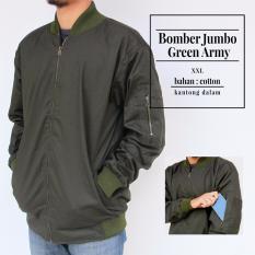 Jaket Bomber Big Size XXL - Green Army