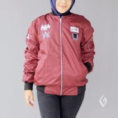 Toko Jaket Bomber Bolak Balik Murah Wanita Skrillex Maroon Abu Best Seller Raja Clothing Di Indonesia