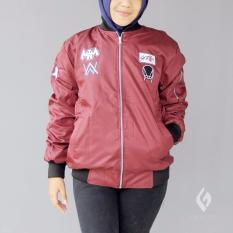 Harga Jaket Bomber Bolak Balik Murah Wanita Skrillex Maroon Abu Best Seller Origin