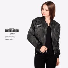 Jual Jaket Bomber Cewe Comando Doreng Hitam Branded Original