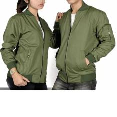 Harga Jaket Bomber Couple Pria Dan Wanita Hijau Army Dan Spesifikasinya
