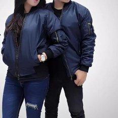 Promo Jaket Bomber Couple Pria Wanita Dongker Murah