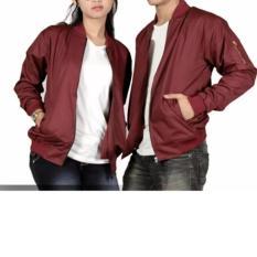 Spesifikasi Jaket Bomber Couple Pria Wanita Maroon Murah