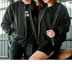 Toko Jaket Bomber Couple Pria Wanita Polos Hitam Termurah Di Dki Jakarta