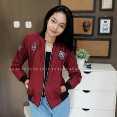 Spesifikasi Jaket Bomber Despo Wanita Slim Maroon Yg Baik