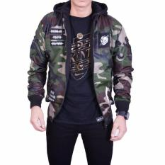 Jaket Bomber Pilot 2in1 Lightning Army Brown Green / Bomber Bolak Balik