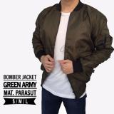 Jaket Bomber Polos Hijau Army Murah