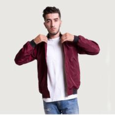 Beli Jayasinar Jaket Bomber Pria All Size Jaket Parasut 2In1 Bolak Balik Maroon Online Terpercaya
