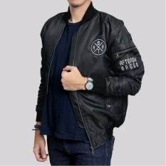 Jaket bomber pria / Jaket bomber premium ( black )