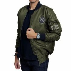 Spesifikasi Jaket Bomber Pria Jaket Bomber Premium Hijau Army Yg Baik