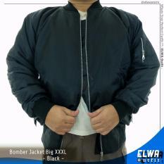 Toko Jaket Bomber Pria Jumbo Big Size Xxxl Black Online