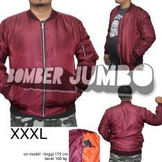 Diskon Jaket Bomber Pria Jumbo Xxxl Maroon Polos Di Jawa Barat